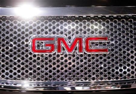 A GMC logo on a vehicle at the 2009 New York International Auto Show April 9, 2009. REUTERS/Eric Thayer