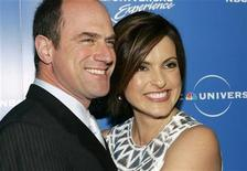 "<p>Actors Christopher Meloni (L) and Mariska Hargitay from NBC's drama series ""Law & Order: Special Victims Unit"" arrive at the NBC Universal Experience as part of upfront week in New York May 12, 2008. REUTERS/Shannon Stapleton</p>"