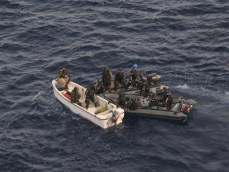 Forces from France's ship Nivose intercept Somali pirates April 15, 2009, in this picture released by the French Ministry of Defence. REUTERS/ECPAD-SIRPA MARINE-French Ministry of Defence/Handout