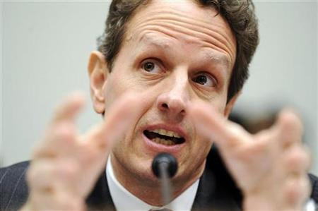 U.S. Treasury Secretary Timothy Geithner speaks during his testimony to the House Financial Services Committee on Capitol Hill in Washington, March 26, 2009. REUTERS/Jonathan Ernst