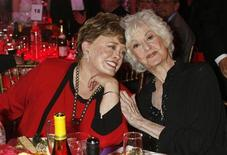 "<p>Actresses Rue McClanahan (L) and Bea Arthur who starred in TV series ""The Golden Girls"" pose at a taping of the 6th annual TV Land Awards in Santa Monica in this file photo from June 8, 2008. REUTERS/Fred Prouser</p>"