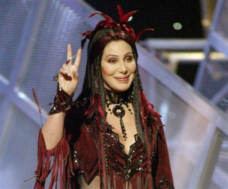 Cher at the 2002 Billboard Music Awards in Las Vegas, December 9, 2002. REUTERS/Ethan Miller
