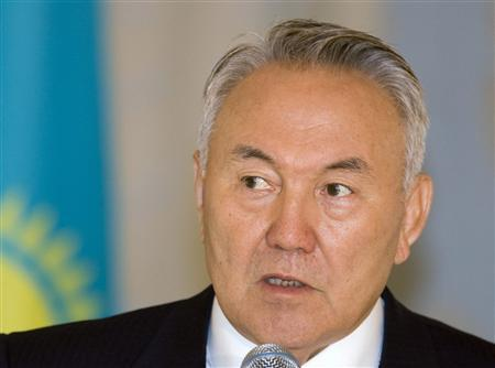 Kazakhstan's President Nursultan Nazarbayev attends a summit in Almaty April 28, 2009. REUTERS/Shamil Zhumatov