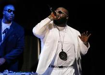 <p>Recording artist Rick Ross performs during the annual BMI Urban Awards in New York, in this file photo from August 30, 2006. REUTERS/Lucas Jackson</p>