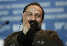 "<p>Director Asghar Farhadi attends a news conference to promote the film ""About Elly"" of the 59th Berlinale film festival in Berlin, February 7, 2009. REUTERS/Johannes Eisele</p>"
