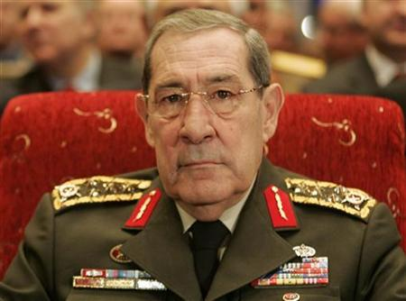 Turkey's former army chief Yasar Buyukanit attends the Global Terrorism and International Cooperation Symposium in Ankara March 10, 2008. REUTERS/Umit Bektas