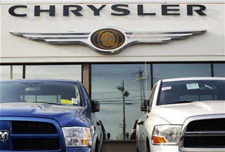Dodge pickup trucks sit on the lot at Clark Chrysler Jeep Dodge dealership in Methuen, Massachusetts April 30, 2009. REUTERS/Brian Snyder