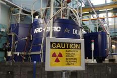 <p>A sign is seen outside the reactor at the Atomic Energy Canada Limited (AECL) Chalk River nuclear facility during a media tour in Chalk River, Ontario, December 19, 2007. REUETRS/Chris Wattie</p>