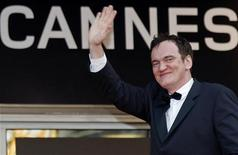 <p>Il regista Quentin Tarantino al Festival del cinema di Cannes. REUTERS/Vincent Kessler</p>
