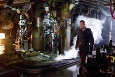 """<p>Imagen publicitaria del actor Christian Bale en el filme """"Terminator Salvation"""", 20 mayo 2009. Arnold Schwarzenegger estaba demasiado ocupado administrando California como para salvar al mundo en el nuevo filme de la serie """"Terminator"""". REUTERS/Richard Foreman/Warner Bros Pictures/Handout</p>"""