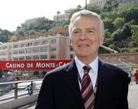 <p>Il presidente della Fia, Max Mosley, a Montecarlo, 23 maggio 2009. REUTERS/Robert Pratta</p>