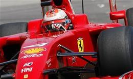 <p>Il pilota dellla Ferrari Kimi Raikkonen of Finland il 24 maggio scorso al Grand Prix di Monte Carlo. REUTERS/Max Rossi</p>