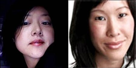 Journalists Euna Lee (L) and Laura Ling of the U.S. media outlet Current TV are seen in this undated handout. North Korea found the two U.S. journalists it has held since March guilty of illegal entry and sentenced them to 12 years hard labour, its official KCNA news agency said on June 8, 2009.REUTERS/Yonhap