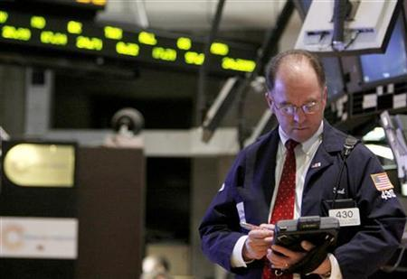 A trader works on the floor of the New York Stock Exchange March 18, 2009. REUTERS/Brendan McDermid
