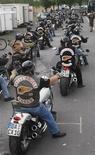 "<p>Immagine d'archivio del famoso gruppo di motociclisti ""Hell's Angels"". REUTERS/Wolfgang Rattay (GERMANY)</p>"