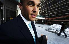 <p>Research In Motion co-chief executive Jim Balsillie leaves a news conference in Toronto February 5, 2009. REUTERS/Mark Blinch</p>