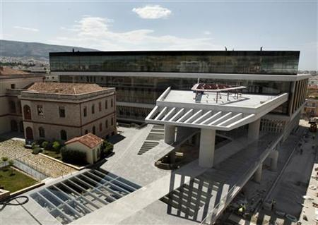 A general view of the new Acropolis museum in Athens May 20, 2009. REUTERS/Yiorgos Karahalis
