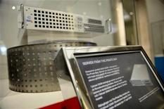<p>Pirate Bay's first server is displayed at the Technical Museum in Stockholm April 16, 2009. Eight percent of all consumers in Britain, France, Germany and the United States admit to downloading video illegally from the Internet, according to a survey, showing the scale of the ongoing fight against piracy. REUTERS/Jessica Gow/Scanpix</p>