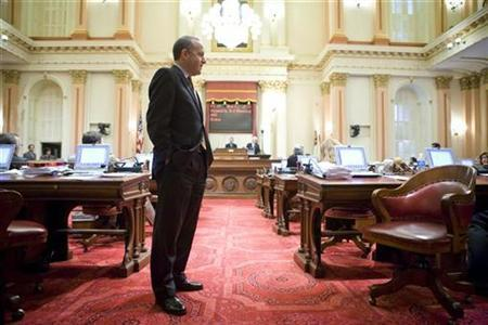 California Senate President Darrell Steinberg in the State Senate Chambers in a file photo. REUTERS/Max Whittaker