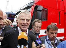 <p>Max Mosley a Silverstone. REUTERS/Yves Herman</p>