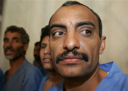 Abdul-Aziz al-Abdi, a Yemeni Muslim, listens to a verdict at a court in Amran, western Yemen in this March 2, 2009 file photo. REUTERS/Khaled Abdullah/Files