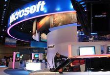<p>Selon le Financial Times, Microsoft a engagé les services de la banque d'affaires Morgan Stanley pour vendre Razorfish, son agence de publicité numérique, et le groupe publicitaire Publicis pourrait être sur les rangs. /Photo d'archives/REUTERS/Steve Marcus</p>