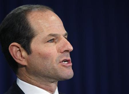 New York Governor Eliot Spitzer announces his resignation at his office in New York March 12, 2008. REUTERS/Brendan McDermid