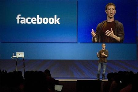 Mark Zuckerberg, founder and CEO of Facebook, delivers a keynote address at the company's annual conference in San Francisco, California July 23, 2008. Facebook will likely be posting billions of dollars in revenue in five years, up from about $500 million this year, Silicon Valley entrepreneur Mark Andreessen who sits on Facebook's board, told Reuters.REUTERS/Kimberly White