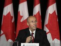 <p>Parliamentary Budget Officer Kevin Page speaks during a news conference in Ottawa October 9, 2008. REUTERS/Christopher Pike</p>
