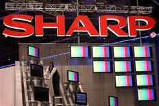 <p>Le fabricant de composants électroniques Sharp Corp va relever de 11% les capacités de production de son site de fabrication de panneaux LCD dès le mois d'août, afin de satisfaire une demande croissante. /Photo prise le 7 janvier 2009/REUTERS/Steve Marcus</p>