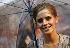 "<p>British actress Emma Watson arrives for the world premiere of ""Harry Potter and the Half Blood Prince"" at Leicester Square in London July 7, 2009. REUTERS/Luke MacGregor</p>"