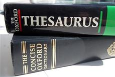 <p>A generic picture of an English dictionary and a thesaurus. REUTERS/Catherine Benson</p>