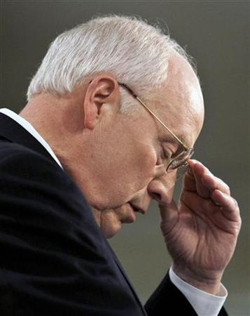 Former U.S. Vice President Dick Cheney gestures as he speaks about national security at the American Enterprise Institute in Washington May 21, 2009. REUTERS/Joshua Roberts