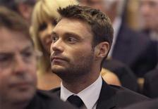 <p>Entertainer Ryan Seacrest attends the funeral for entertainer and producer Merv Griffin at the Good Shepherd Catholic Church in Beverly Hills, California August 17, 2007. REUTERS/Kevork Djansezian/Pool</p>