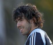 <p>Jogador Tevez da Argentina em Buenos Aires. 04/06/2009. REUTERS/Marcos Brindicci</p>