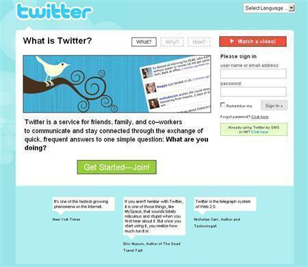 An undated screenshot of Twitter.com. REUTERS/www.twitter.com
