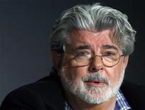 <p>George Lucas is seen at the 61st Cannes Film Festival May 18, 2008. REUTERS/Jean-Paul Pelissier</p>