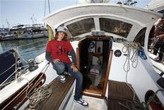 <p>Zac Sunderland, 17, poses for a portrait aboard his 36-foot (11-meter) sloop Intrepid at the Del Rey Yacht Club in Marina Del Rey, California July 16, 2009. REUTERS/Danny Moloshok</p>