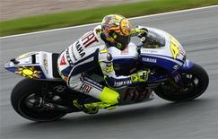 <p>Valentino Rossi al Sachsenring in Germania. REUTERS/Thomas Peter (GERMANY SPORT MOTOR RACING)</p>