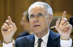 <p>Il ministro svizzero ai Trasporti e all'Energia Moritz Leuenberger. REUTERS/Michael Buholzer (SWITZERLAND)</p>