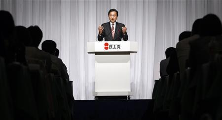 Japan's main opposition Democratic Party leader Yukio Hatoyama announces his party's policy manifesto during a news conference in Tokyo July 27, 2009. REUTERS/Issei Kato