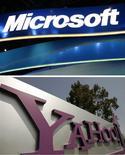 <p>Selon une source proche du dossier, Microsoft et Yahoo se sont mis d'accord sur un partenariat en matière de recherche sur internet et de publicité qui sera annoncé d'ici 24 heures. /Photos d'archives/REUTERS</p>