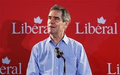 <p>Liberal leader Michael Ignatieff delivers a speech at the Alberta Liberal Stampede breakfast during the Calgary Stampede in Calgary, Alberta, July 4, 2009. REUTERS/Todd Korol</p>