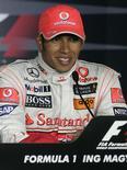 <p>Piloto vencedor da McLaren de Fórmula 1 Lewis Hamilton no GP da Hungria. 26/07/2009. REUTERS/Karoly Arvai</p>
