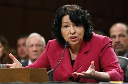 U.S. Supreme Court nominee Judge Sonia Sotomayor answers questions during her fourth and final day of testimony at her U.S. Senate Judiciary Committee confirmation hearings on Capitol Hill in Washington July 16, 2009. REUTERS/Jason Reed