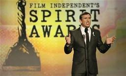 <p>English actor Steve Coogan hosts the show at the 24th annual Spirit Awards in Santa Monica, California February 21, 2009. REUTERS/Danny Moloshok</p>