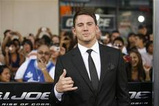 "<p>Cast member Channing Tatum poses at the premiere of the movie ""G.I. Joe: The Rise of Cobra"" at the Grauman's Chinese theatre in Hollywood, California August 6, 2009. The movie opens in the U.S. on August 7. REUTERS/Mario Anzuoni</p>"