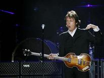 <p>Paul McCartney, formerly a member of The Beatles, performs with his band during a concert at CitiField in New York in this July 17, 2009 file photo. REUTERS/Shannon Stapleton</p>