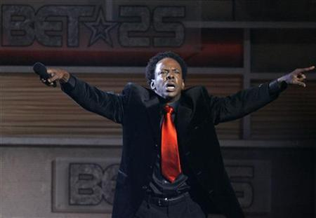 Singer Bobby Brown performs at the taping of ''25 Strong: The BET Silver anniversary celebration'' at the Shrine auditorium in Los Angeles on October 26, 2005. REUTERS/Mario Anzuoni