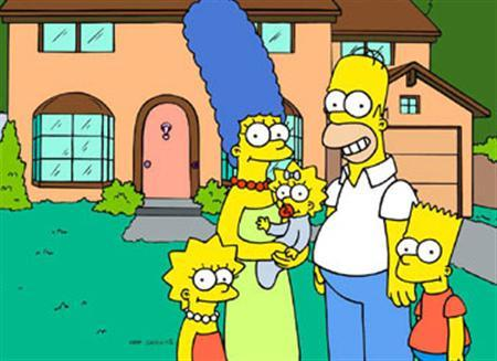 The Simpsons in an image courtesy of Fox. REUTERS/Dan Castellaneta